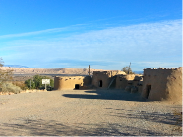 These are replicas of Native American homes built next to the original foundations on the left.