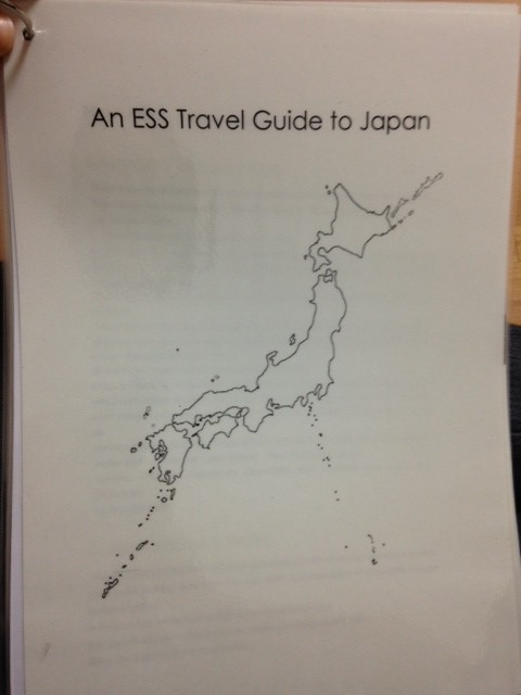 As a parting project, my predecessor Rebecca had my English club members make me an info guide of Japan which they presented to me on the day of my welcome party!