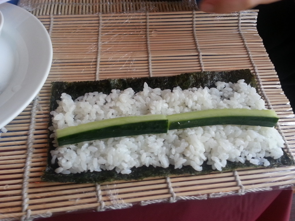 I was making Kappa Maki, which is Cucumber roll.