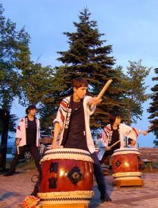 Summer Festival taiko performance. (Sunagawa-shi)