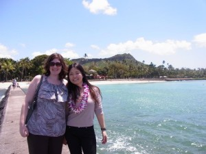 With a friend from Japan at a mutual ALT friend's wedding in Hawai'i in 2012
