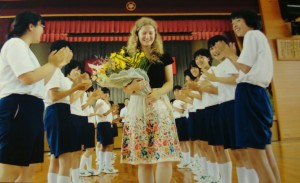 Goodbye ceremony at my middle school, I miss those kids.
