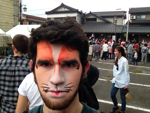Traditional make up for the Fox Bride Festival in nearby Agamachi, Niigata. I actually did learn what the fox says, and boy was I not expecting it.