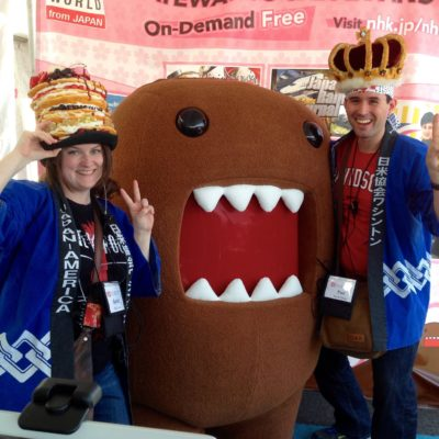 JETAADC Officers with Domo-kun