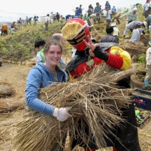 Life on JET: 2007-2016  Danielle Reed Sendai-shi 2011-2014  Mr. Miyagi: I volunteered to plant trees in Iwanuma, Miyagi to re-create a tsunami barrier. The trees were planted on hills created with piles of tsunami debris. Many JETs and local community members came out to support. Here I am with Mr. Miyagi!