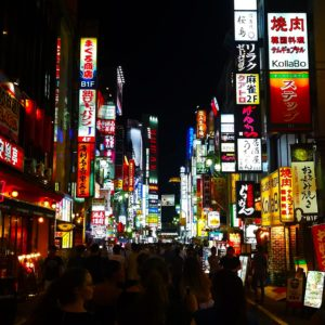 Life on JET: 2007-2016  Lera Toropin Saga 2015-2016  Denki: Compared to the several inaka areas I've called home in Japan, Tokyo has always been a bright, beautiful, colorful, and loud cacophony of life, lights, and people. This street in Kabukicho in particular caught my eye, right before I got swept away in the hubbub of the crowd around me.