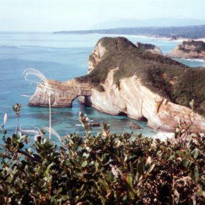 "Life on JET: 1987-1996  Laurel Lukaszewski Kagoshima (Minamitane-machi) 1990-1992  ""Zo-no-Mizunomi"" at Takezaki Beach, 1990: This was the closest beach to my house- about 10 minutes by scooter. Locals say the rock looks like an elephant drinking water."